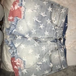 Pants - Red White And Blue Jean shorts